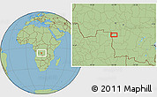 Savanna Style Location Map of Caputungo