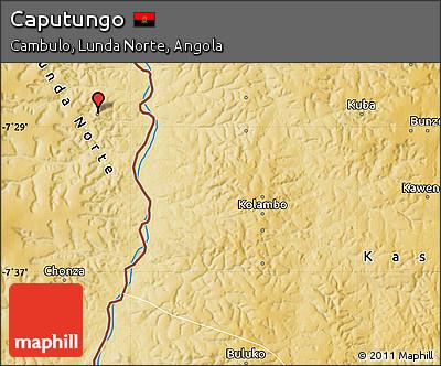 Physical Map of Caputungo