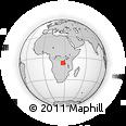 Outline Map of Congo, rectangular outline