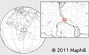 Blank Location Map of Namanyere