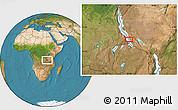 Satellite Location Map of Namanyere