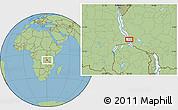 Savanna Style Location Map of Namanyere