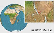 Satellite Location Map of Chala