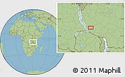 Savanna Style Location Map of Chala