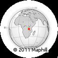 Outline Map of Chala, rectangular outline