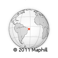 """Outline Map of the Area around 7° 41' 23"""" S, 33° 55' 29"""" W, rectangular outline"""