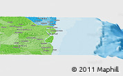 """Political Panoramic Map of the area around 7°41'23""""S,34°46'29""""W"""