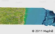 "Satellite Panoramic Map of the area around 7°41'23""S,34°46'29""W"
