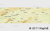 "Physical Panoramic Map of the area around 7° 41' 23"" S, 37° 19' 30"" W"