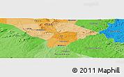 Political Panoramic Map of Massapê