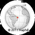 Outline Map of Granito, rectangular outline