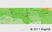 Political Panoramic Map of Granito