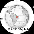 Outline Map of Balsas, rectangular outline
