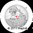 Outline Map of Franz Josef Land, rectangular outline