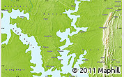 """Physical Map of the area around 8°2'17""""N,0°4'30""""E"""
