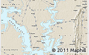 """Shaded Relief Map of the area around 8°2'17""""N,0°4'30""""E"""