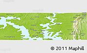 Physical Panoramic Map of Zongo Macheri
