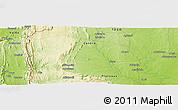 Physical Panoramic Map of Baté