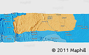 """Political Panoramic Map of the area around 8°2'17""""N,0°55'29""""E"""
