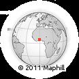 Outline Map of Ghana, rectangular outline
