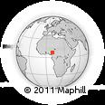 Outline Map of Taraba, rectangular outline