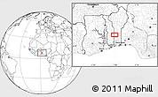 Blank Location Map of Ekpaogan