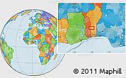 Political Location Map of Ekpaogan