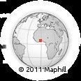 Outline Map of Senya, rectangular outline