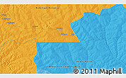 Political 3D Map of Bakolekpa