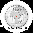 Outline Map of Bakolekpa, rectangular outline