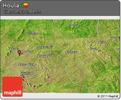 Satellite Panoramic Map of Houla
