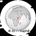 Outline Map of Sidamo, rectangular outline