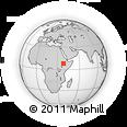Outline Map of Arekit, rectangular outline