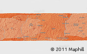"""Political Panoramic Map of the area around 8°2'17""""N,3°28'30""""E"""