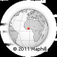 Outline Map of Tanda, rectangular outline