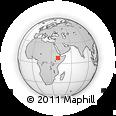 Outline Map of Arsi, rectangular outline