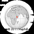Outline Map of Degeh Bur, rectangular outline