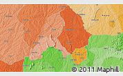 Political 3D Map of Ejigbo