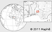 Blank Location Map of Ejigbo