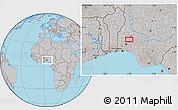Gray Location Map of Ejigbo