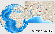 Shaded Relief Location Map of Ejigbo