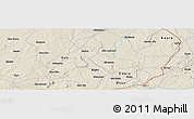 Shaded Relief Panoramic Map of Ejigbo