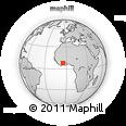 Outline Map of Health Center D'akakro, rectangular outline