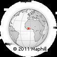 Outline Map of Kongaso, rectangular outline