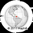 Outline Map of Ciudad Bolívar, rectangular outline