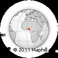 Outline Map of Ejuku, rectangular outline