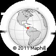 Outline Map of Alto De Carepa, rectangular outline