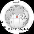 Outline Map of Kanyakumari, rectangular outline