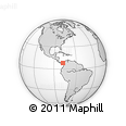 """Outline Map of the Area around 8° 2' 17"""" N, 78° 7' 30"""" W, rectangular outline"""