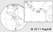 Blank Location Map of Pocrí